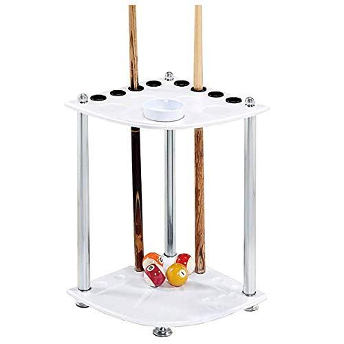 Gj Sector Pool Queue Rack,Holz Freistehendes BodenstäNder Billard Stick,mit Aschenbecher Ständer/Weiß / 36x60cm