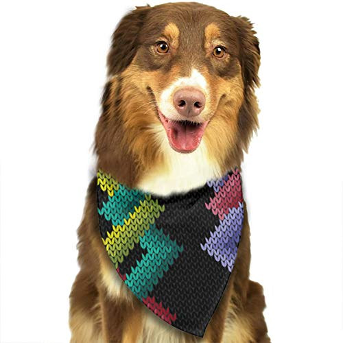 iuitt7rtree Dreieckstuch, gestrickt, nahtlos, mit Ziermuster, für Katzen und Hunde