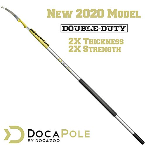 DocaPole 6-24 Foot Pole Pruning Saw (Heavy Duty) // DocaPole Double-Duty Extension Pole + GoSaw Attachment // Use on Pole or By Hand // Long Extension Pole Saw // Telescopic Tree Pruner Pole (NEW)