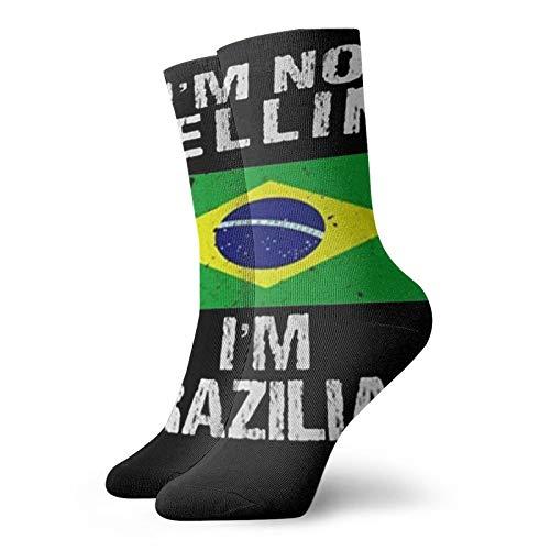 IM Not Yelling IM Brazilian Personalized Socks Sport Athletic Stockings 30cm Sock For Men Women