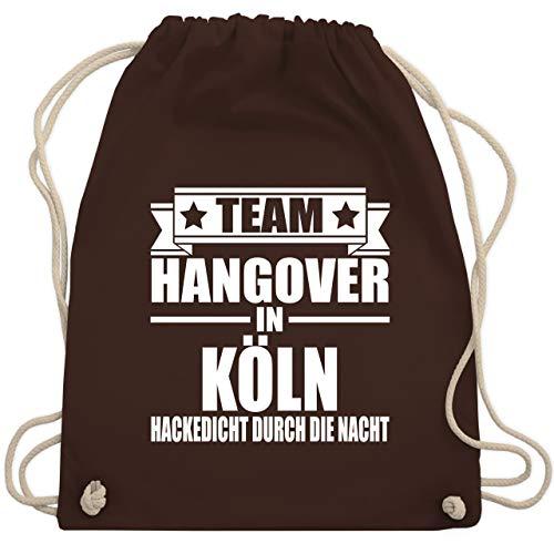 Shirtracer JGA Junggesellenabschied Männer - Team Hangover in Köln - Unisize - Braun - Team Braut...