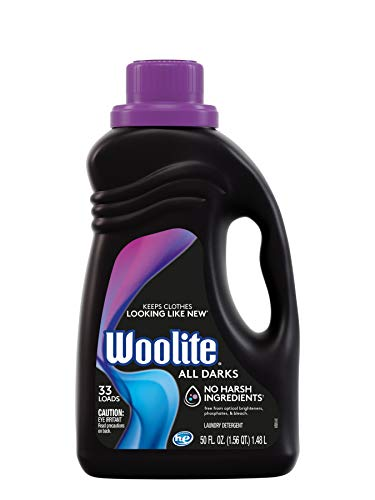 Woolite All Darks Liquid Laundry Detergent, 33 Loads, 50 Fl Oz, Dark & Black Clothes & Jeans, Regular & HE Washers, midnight breeze scent, packaging may vary