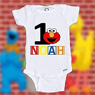 Personalized Customized Elmo birthday shirt | Elmo 1st birthday shirt | Elmo first birthday shirt | Boy Girl birthday shirt | Boy Girl birthday bodysuit/onesie