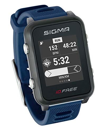 Sigma Sport Unisex– Erwachsene iD.FREE Multisport Uhr, Blue,
