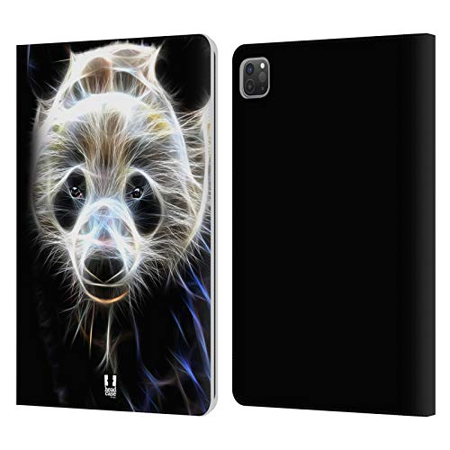 Head Case Designs Panda Fuego Salvaje Carcasa de Cuero Tipo Libro Compatible con Apple iPad Pro 11 (2020/2021)