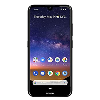 Nokia 2.2 Fully Unlocked Smartphone with 5.71  HD+ Screen 13 MP Camera and Android 10 Ready Black  AT&T/T-Mobile/Cricket/Tracfone/Simple Mobile
