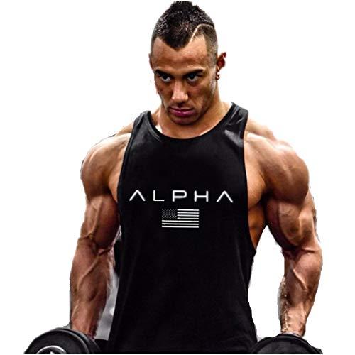 Hombre Camiseta de Tirantes Deportiva Bodybuilding Culturismo Fitness Deportiva Deporte Masculina para Entrenar Gym