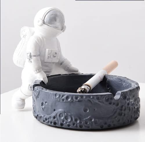 Cenicero creativo para malezas, cenicero de astronauta creativo, cenicero de cigarros para interiores – Bonito regalo para hombres y mujeres (plata)