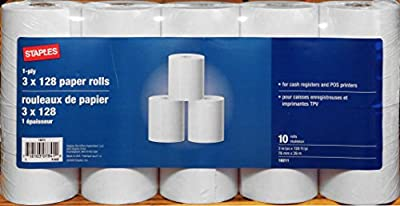 Cash Register and Point of Service Printer Paper 3 Inch X 128 Foot Rolls