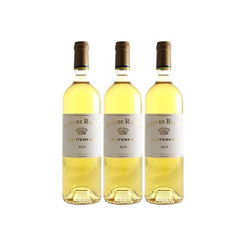 Château Rieussec Les carmes de Rieussec Weißwein 2015 - g.U. Sauternes süßer - Bordeaux Frankreich - Rebsorte Sauvignon Blanc, Sémillon, Muscadelle - 3x75cl