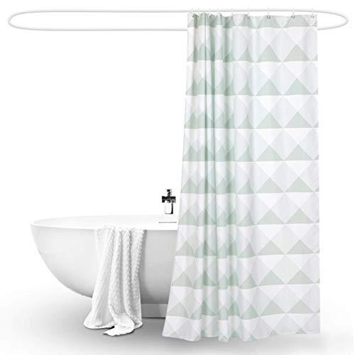 Las cortinas de ducha tienen varios estilos, las cortinas de ducha con ganchos de plástico, tejido de alta densidad de poliéster espesante resistente, para baño de baño, 10 tamaños