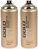 Spray plateado efecto cromo Montana M1000 acrílico pintura brillante individual o 6 x 400 ml, incluye cabezales de pulverización de repuesto para hobby artesanal (6)