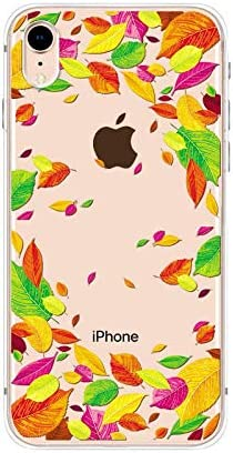 iPhone XR Case,Blingy's New Cute Floral Style Transparent Clear Soft TPU Protective Case Compatible for iPhone XR(Autumn Leaf Mix)