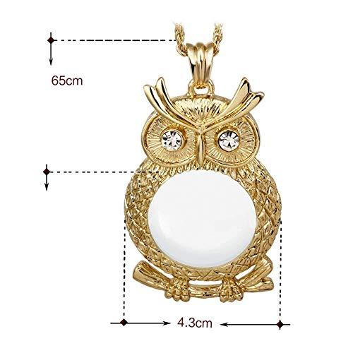 HJXSXHZ366 Halten Lupe Objektiv 2.5X Lupe Lange dekorative Accessoires Pullover Halskette alte Silberne Lupe lesen die Zeitung lesen (Color : Gold)