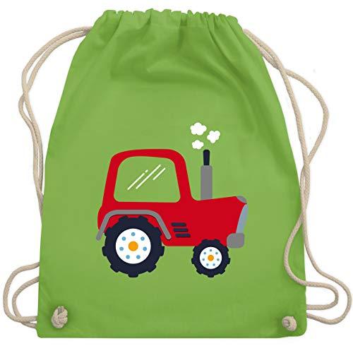 Shirtracer Fahrzeuge Kind - Kinder Traktor - Unisize - Hellgrün - kinder turnbeutel - WM110 - Turnbeutel und Stoffbeutel aus Baumwolle
