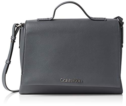 Calvin Klein Jeans Damen Frame Top Handle Satchel Handgelenkstasche Grau (Steel Greystone)