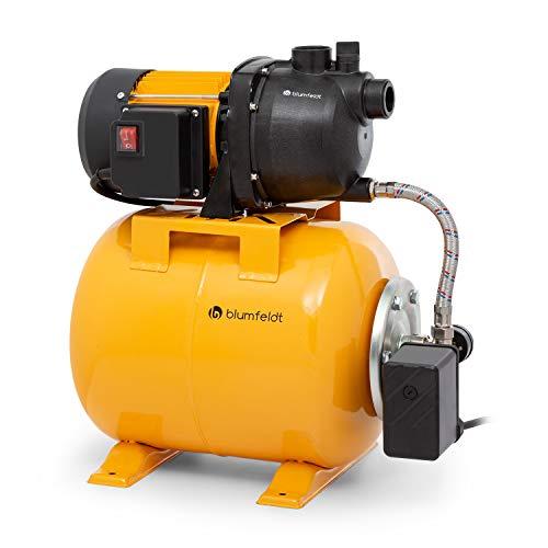 blumfeldt Liquidflow 800 - INOX Pro Bomba de presión para jardín, 800 W, Altura máxima de 40 m, caudal de hasta 3.000 l/h, depósito de Acero de 19 l, Profundidad de extracción: 8 m, Naranja