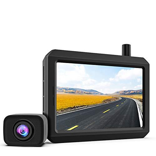 720P HD Wireless Backup Camera, Support 2 Cameras with Digital Wireless Signal, Waterproof Rear View Camera, 5″ TFT-LCD HD Monitor Ideal for SUV/Van/Trucks/Mini RV/Pickup (BOSCAM K7 Pro)