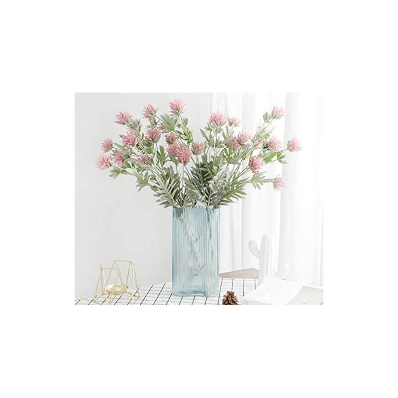 silk flower arrangements skyseen 3pcs artificial flowers thistle spray eryngo single spray