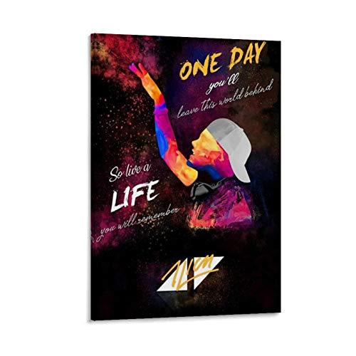 3 pósteres de pintura decorativa de Avicii con diseño de artista de danza electrónica, para sala de estar, dormitorio, 40 x 60 cm
