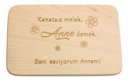 Spruchreif PREMIUM QUALITÄT 100% EMOTIONAL · Frühstücksbrettchen aus Holz · Brotzeitbrett mit türkischer Gravur · Geschenke für Mama · Holzbrettchen mit...
