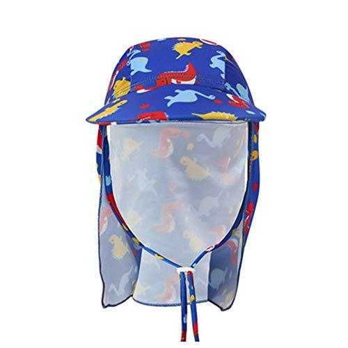 YICANG Sombrero de Playa de Verano para niños UV Protección Solar Cuello Cubierta Sombrero de ala Ancha Sombrero para Sol Sombrero de Solapa Ajustable para...