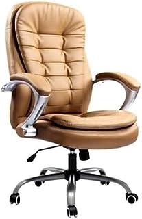 LQ Executive Recline draaistoel, Ergonomische Bureau van het Leer Gaming Swivel met hoofdsteun PU Large Black Racing Seat ...