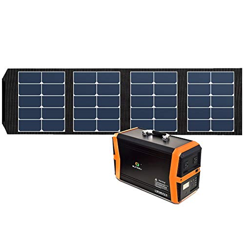 Sungzu 65W Solar Panel Charger Foldable with 4 Output Port Waterproof Solar Portable Panel Suaoki/Jackery/Webetop/Paxcess Portable Power Station Generator
