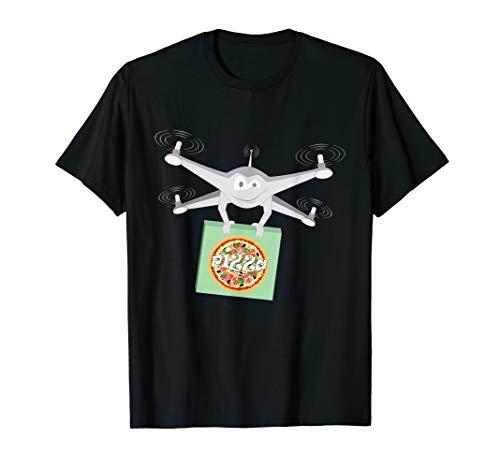 Lieferung von Drohne Pizza T-Shirt