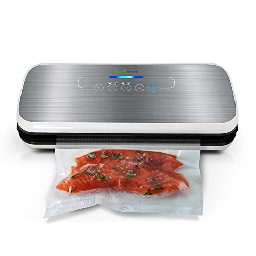 in budget affordable NutriChef Vacuum Sealer | Automatic Air Vacuum Sealing System for Food Preservation with Starter…