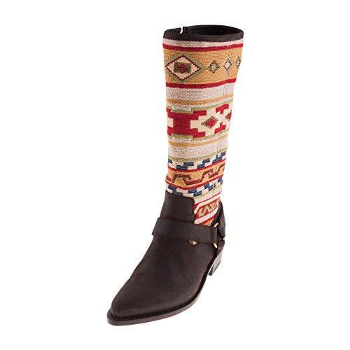 Sancho Boots Womens Crosta TIBUR GAVA Dunkelbraun Klassische Stiefel 40