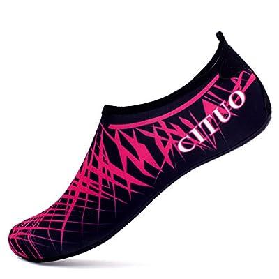 Giotto Barefoot Water Shoes Yoga Beach Swim Aqua Shoes for Women Men-Pink-44-45