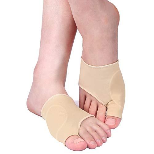 Qiilu Corrector de juanetes, corrector de pulgar para juanetes, protección de las mangas, metatarsal, almohadilla para dedos del pie, calcetines, botines