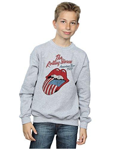 Rolling Stones niños American Tour 81 Camisa De Entrenamiento 7-8 Years Gris Sport