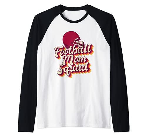 Fútbol Mom Squad Sunday Faith Family Jugador estadounidense Camiseta Manga Raglan