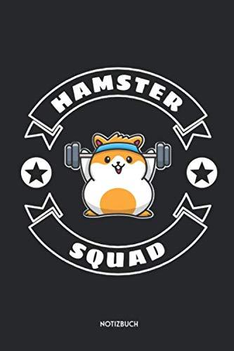 Hamster Squad Notizbuch: Süßes Hamster Büchlein   Dotted Notebook / Punkteraster   120 gepunktete Seiten   ca. A5 Format   Individuelles Journal   Journaling Geschenk für Hamsterhalter