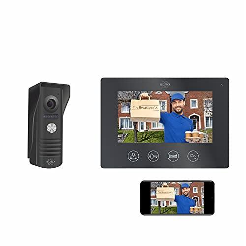 ELRO DV50 IP WiFi Teléfono de la Puerta - con 7 Pulgadas de Pantalla a Color - Muestra y se comunica a través de la aplicación, aluminio cepillado