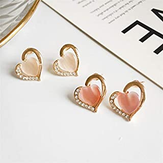 Earrings Temperament Wild Creative Personality Earrings Jinlyp (Color : Pink)