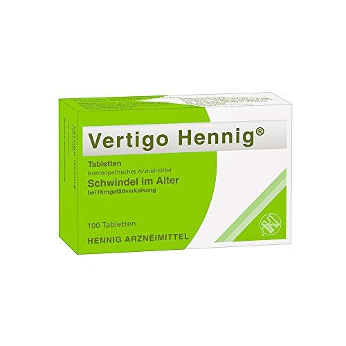 Vertigo Hennig: Schwindel im Alter bei Hirngefäßverkalkung, Homöopathisches Arzneimittel, 100 Tabletten