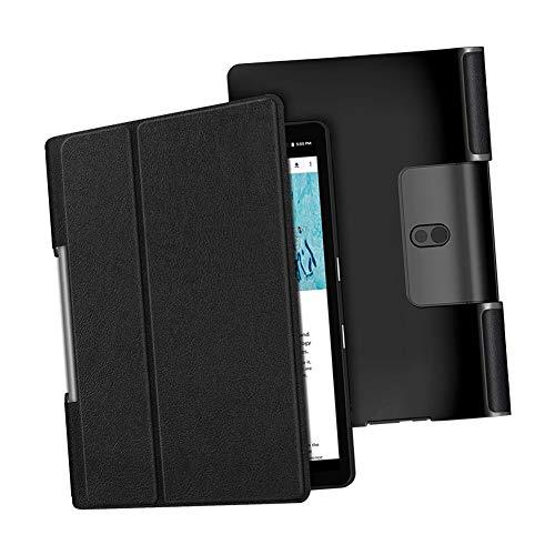 MOOPW Case for Lenovo Yoga Smart Tab/Yoga Tab 5 - PU Leather Slim Lightweight Shell Protective Cover for Lenovo Yoga Smart Tab/Yoga Tab 5 YT-X705F 10.1 inch 2019 Tablet
