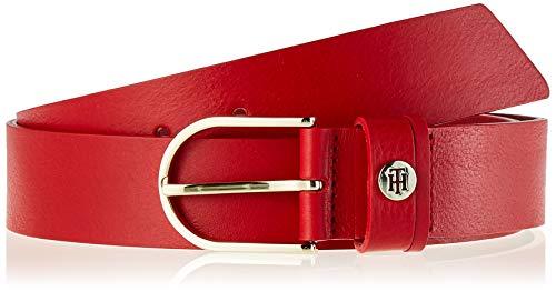 Tommy Hilfiger Classic Belt 3.5 Cintura, Rosso (Red Xaf), (Taglia Produttore: 90) Donna