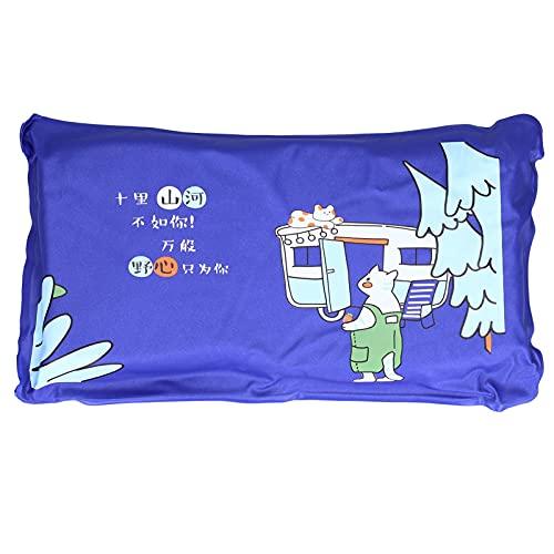 Almohadas Refrescantes para Dormir - Verano Linda Almohada de Hielo Estera de Enfriamiento Almohada para el Almuerzo Cojín de Enfriamiento Almohada Trasera para Adultos Estudiante Casa(Azul marino)