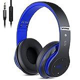 Kabellose Kopfhörer Over Ear, Bluetooth Wireless Kopfhörer HiFi Stereo Zusammenklappbarer Kabellos...