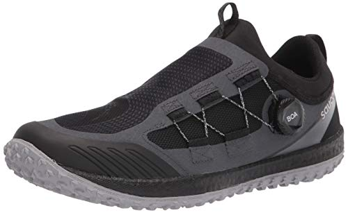 Saucony Men's Switchback 2 Trail Running Shoe, Black/Charcoal, 10.5