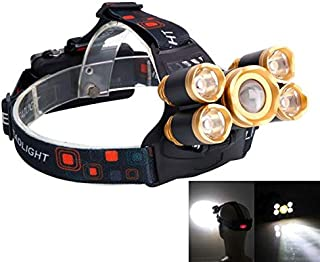 Blacgic Headlamp Rechargeable Headlamp, Super Bright, 4 Lighting Modes, Lightweight Headlight for Outdoor, Camping, Running, Hiking, Reading and More