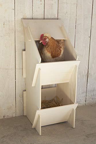 Kerbl 73005 Hühner Legenest aus Holz, unmontiert, 30 x 35 x 83 cm - 2
