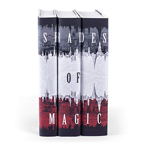 Juniper Books Shades of Magic | Three-Volume Hardcover Book Set with Custom Designed Dust Jackets | Author V.E. Schwab