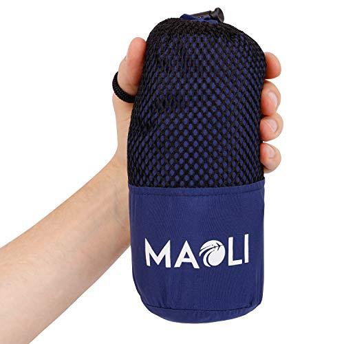 MAOLI Sommer-Schlafsack aus Mikrofaser – Dünner Hüttenschlafsack, Reiseschlafsack für Zelt, Camping, Festival, Reisen - Ultraleicht (<350 g), atmungsaktiv, sehr kleines Packmaß - Outdoor-Ausrüstung