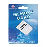 WICAREYO Memory Card 128 MB Large Capacity Game Storage Card Compatible with Wii NGC Gamecube Console White