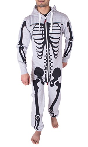NOROZE Herren Onesie Mode Stilvoll Alle in Einem Overall Strampelanzug EIN Stück Pyjamas Jumpsuit Combinaison